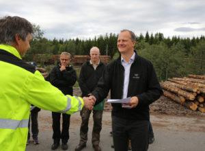 Minister på skogbesøk