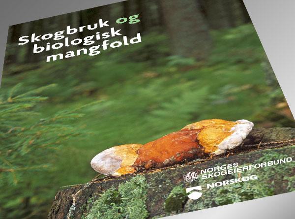 Brosjyren Skogbruk og biologisk mangfold er gitt ut av Norges Skogeierforbund og Norskog.