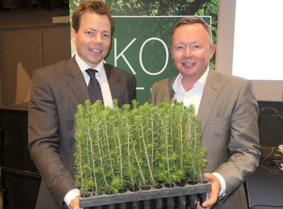 Lars P. Sperre og Olav Veum var begge optimister på vegne av fremtiden under dagens konferanse Skog og Tre.