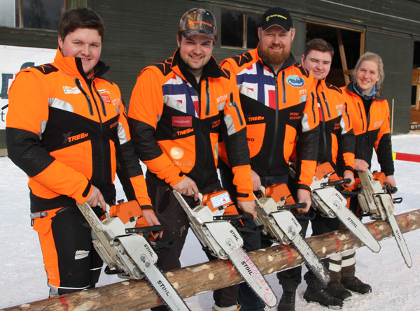 Landslaget 2018 som skal konkurrere på hjemmebane på Lillehammer i august. F.v.: Kristoffer Lund, Ole Harald Løvenskiold Kveseth, Øystein Koht-Norbye, Sivert Lindstad og Anne-Helene Sommerstad Bruserud.