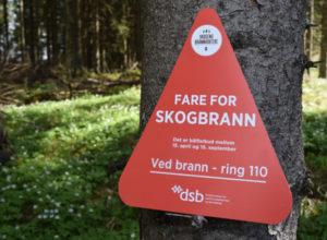 Strenge tiltak mot skogbrann