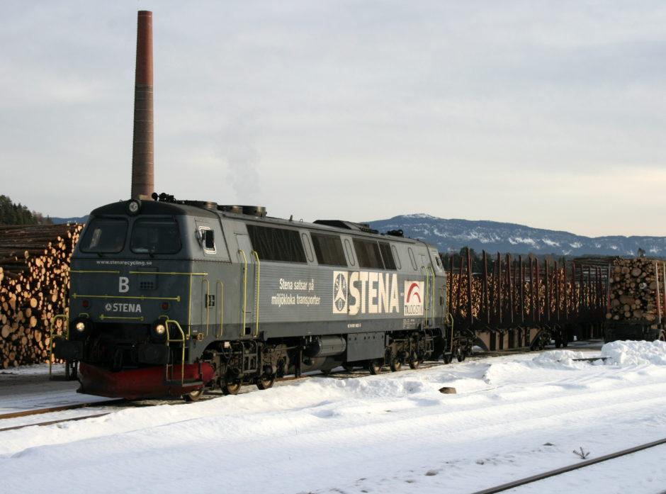 Fra Follum tømmerterminal. Foto: Viken Skog