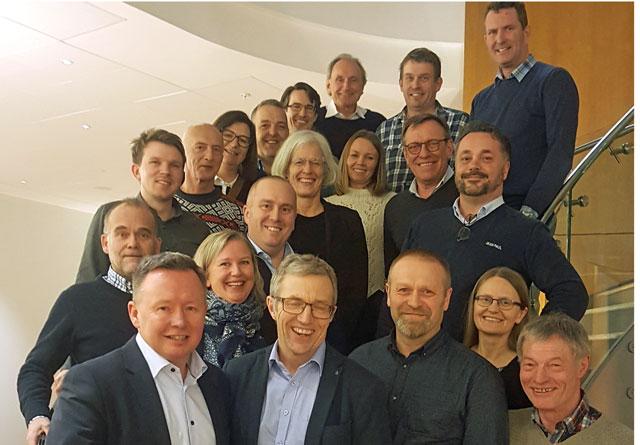De to styrene i AT Skog og Vestskog samlet til felles styremøte 8. januar 2019.