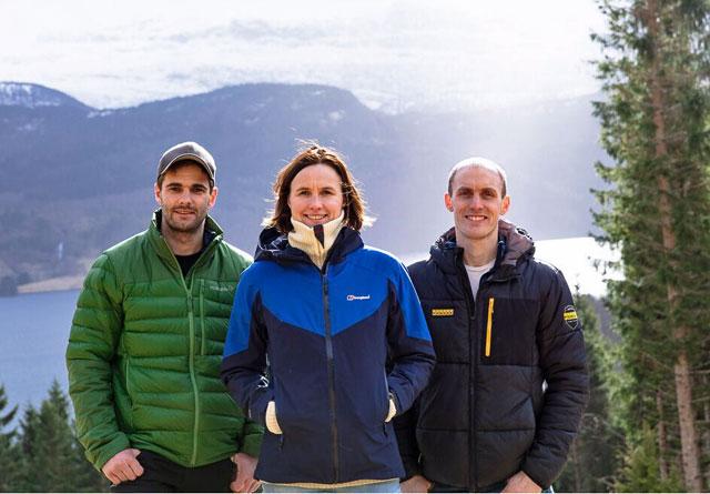 De tre initiativtakerne bak Fjordtømmer AS, Tarjei Kusslid, Ingunn Kjelstad og Martin Braanaas.