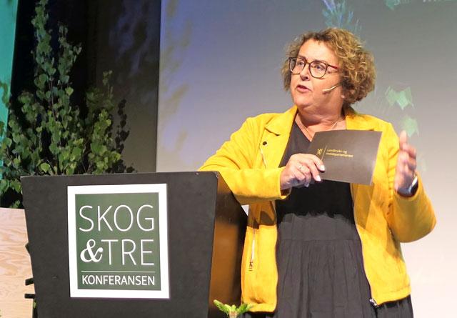 Olaug Bollestad åpnet Skog og Tre-konferansen 2019.