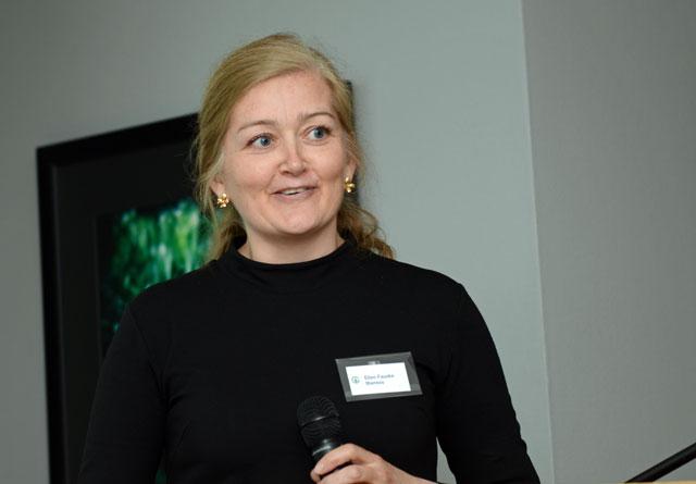 Ellen Fauske Bleness. Bilder er fra Glommen Skog sitt årsmøte 2018.