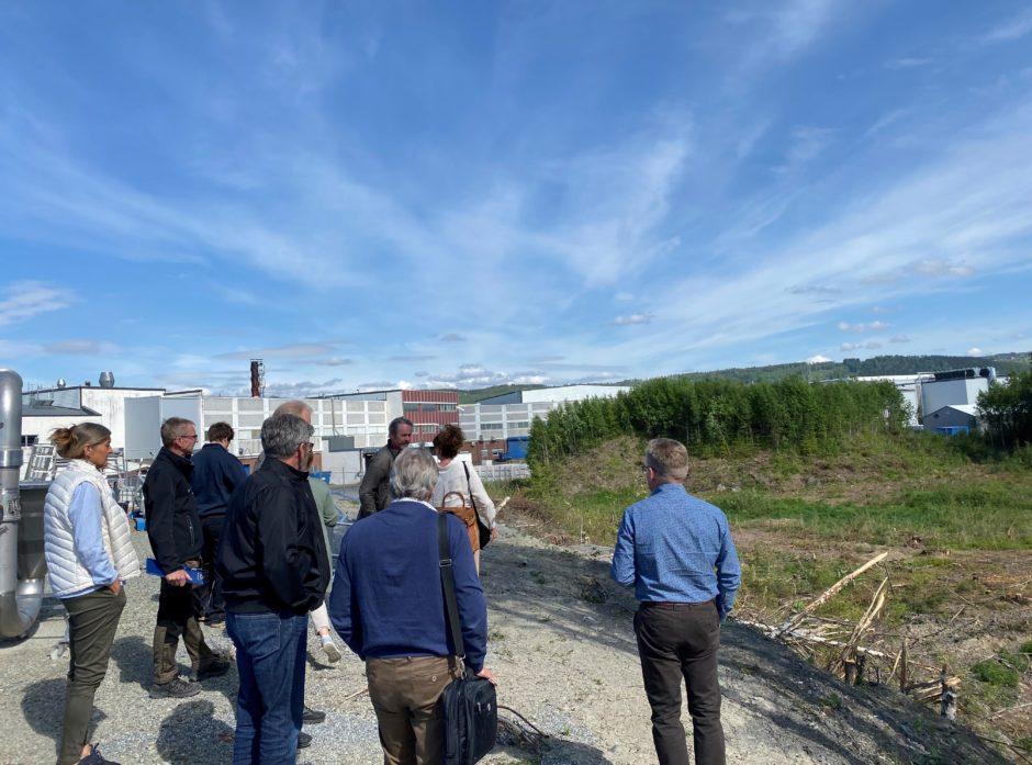 I dag startet byggingen av den første industrielle biokullfabrikken i Norge på Rudshøgda. Foto: Knut Skinnes.