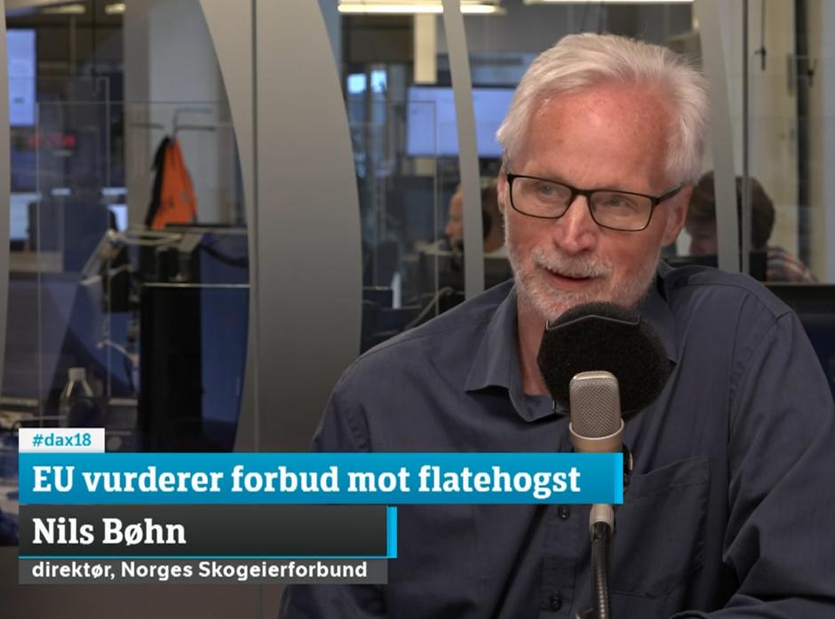 - At det er mer karbonutslipp ved flatehogst enn plukkhogst, er en hypotese som har blitt gjentatt og gjentatt uten at det er vitenskapelig grunnlag for det, sa Nils Bøhn i Dagsnytt 18-studio.
